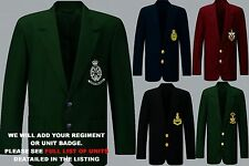 UNITS R TO R1 EMBROIDERED REGIMENTAL ARMY RAF NAVY BLAZER JACKET BADGE BUTTONS