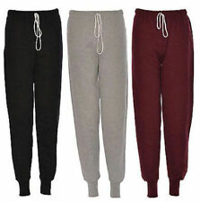Womens Ladies girls Plain fleece Jogging tracksuit Bottoms trousers joggers 8-14