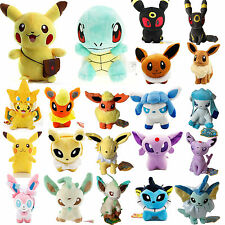 Pokemon Collectible Plush Toy Eevee Pikachu Squirtle Stuffed Animal Kids Doll