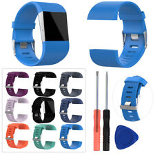 For Fitbit Surge Wristband Silicone Replacement Sport Watch Band Strap Tool Kits