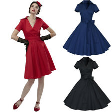 Women Vintage 1950s Housewife Dress Casual Pinup Evening Party Swing Retro Dress