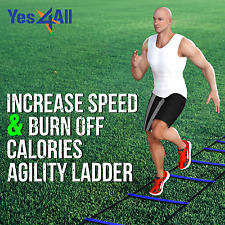 Training Ladder Agility Speed 8-12 Rung W/ Bag Football Sports Footwork Drills