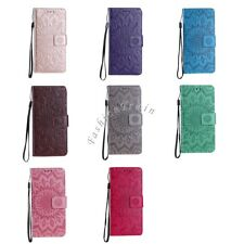 Sunflower PU Leather Stand Flip Wallet Protective Case Cover for iPhone/Samsung