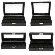 Watch Box Carbon Fiber Jewelry Collection Display Storage Case for Women Men