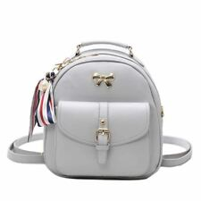New Fashion Pearl Scarf Decorative Pu Leather School Backpack For Women
