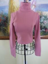 NWT F21 Forever 21 Pink L/S Crop Turtle Neck Top Shirt Career School Clothes M