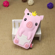 1Pcs iPhone 5/5S/SE 4.0 inch Phone Case Silicone Shell Phone Bag Crown Pig Cute