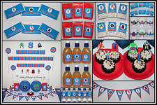 ** SUPERHEROES Super Hero PERSONALISED Birthday Party Decorations Supplies **