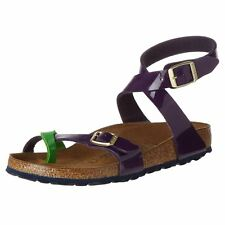 Birkenstock Yara Tropical Green Lilac Womens Birko-Flor Thong Narrow Sandals