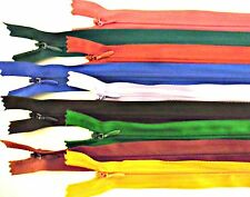 """ZIPS INVISIBLE/CONCEALED 22"""" 56CM NYLON X2, ASSORTED COLOURS"""