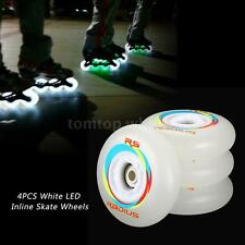 4PCS Skate Wheels 80/76/72mm 86A LED Flash Inline Kids Skate Wheels