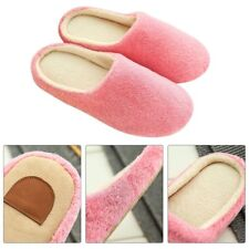Anti-slip Velvet Plush Warm Slippers Solid Color Soft Indoor Slippers Shoes PL