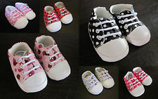 Baby Girl Toddler Canvas POLKA DOT Ladybug CRIB SHOES SNEAKERS Pink Black White