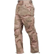 TRI COLOR Desert Camo BDU Cargo Pants Coffee Stain Paintball Navy Army Marines