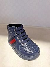 Gucci Kids shoes MicroGuccissima Toddler Leather high-top with Web Baby's&Child