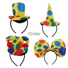 Clown Hat Headband Party Fancy Dress Costume Circus Cap Hairband Adults Supplies