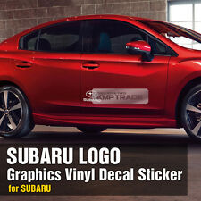 SUBARU Logo Graphics Vinyl Decals Custom Sticker 1P For SUBARU IMPREZA WRX STI
