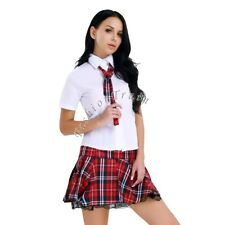 Sexy Womens School Girl Lingerie Outfit Cosplay Uniform Fancy Dress Up Costume