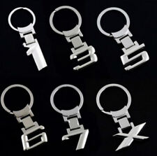 1PC 3D Metal Stainless Steel Key Chain Car Emblem Keychain Key Rings For BMW