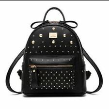 Autumn and Winter Style PU Leather Rivet Decorated Backpack for Women