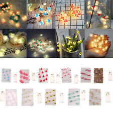 2M 20Led Fairy String Light Battery Operated Cooper Wire Waterproof Party Decor
