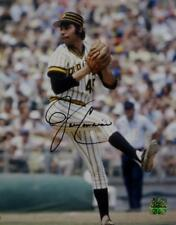 John Candelaria Signed Pittsburgh Pirates 8x10 Pitching Photo- Jersey Source Aut