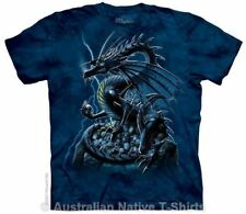 Skull Dragon T-Shirt in Adult Sizes - Dark Fantasy Art by The Mountain T-Shirts