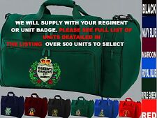 UNITS 1ST TO L  EMBROIDERED ROYAL CANADIAN ARMY NAVY AIR FORCE KIT BAG HOLDALL