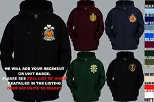 UNITS 1ST TO L  EMBROIDERED ROYAL CANADIAN ARMY NAVY AIR FORCE FULL ZIP UP HOODY