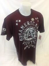AMERICAN FIGHTER By AFFLICTION Mens T Shirt BURGUNDY DAVIDSON CAMO FM2815 NWT