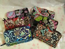VERA BRADLEY Turn Lock Wallet Turnlock Retired Pattern Alpine Katalina Moon Plum