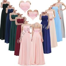 Formal Party Wedding Women's Chiffon Bridesmaid Long Evening Gown Cocktail Dress