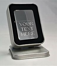 Engraved Silver Personalised Lighter - Star Petrol boxed birthday wedding gift