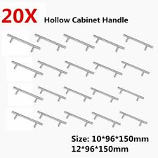 20pcs/set Modern Stainless Steel T-type Hollow Round Tube Cabinet Handle  MQ