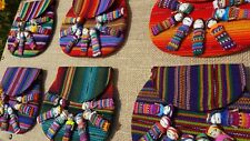Guatemalan cross body bag with worry dolls for girls or adults pouch/many colors