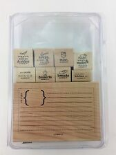 Stampin Up From the Kitchen of Rubber Stamp Wood Mount Set of 9