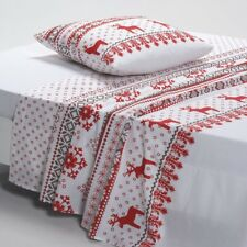 La Redoute Interieurs Ovelis Printed Cotton Flat Sheet