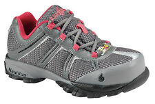 Nautilus Womens Steel Toe ESD Athletic M Grey/Pink Action Leather Shoes