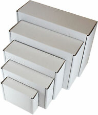 FOR GIFT PACKET STRONG CARDBOARD WHITE SHIPPING BOXES POSTAL MAILING