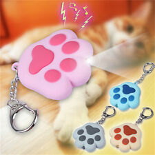 1x LED light Cat Paw With Sound Lovely Torch Keyring Keychain Fashion Cute