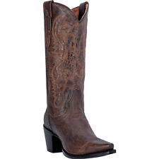 Dan Post Womens Bay Mad Cat Leather Maria 13in Snip Toe Cowboy Boots