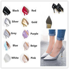 Women's High Heels Pointed Toe OL Lady Stilettos Patent Leather Wedding Shoes