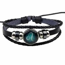 New Fashion Handmade Vintage Pu Leather Bracelet For Men Women