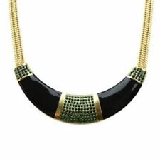 New Fashion With Rhinestone Gold Plated Enamel Alloy Necklace For Women