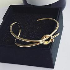 Women Simple Handmade New Fashion Open Adjustable Gold Color Bracelet