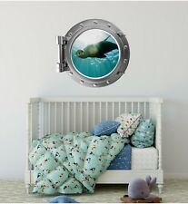 Sea Lion 1 Porthole Window Wall Decal Vinyl Sea Life Wall Art Nursery Decor