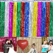 Curtain Party Decoration 2 Pack Window Tinsel Foil Fringe Door Wedding Birthday