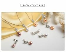 Fashion Fake Pearl Necklace/Earrings Jewelry Set For Women