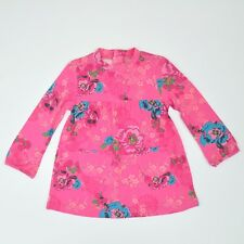 Kenzo Kids Girl Pink Floral Print Long Sleeve Dress Size 3 BNWT