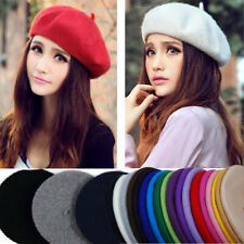 Fashion Lady Women Wool Felt Warm French Classic Beret Beanie Slouch Hat Cap Tam